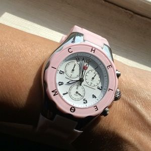 Authentic Michele pink watch